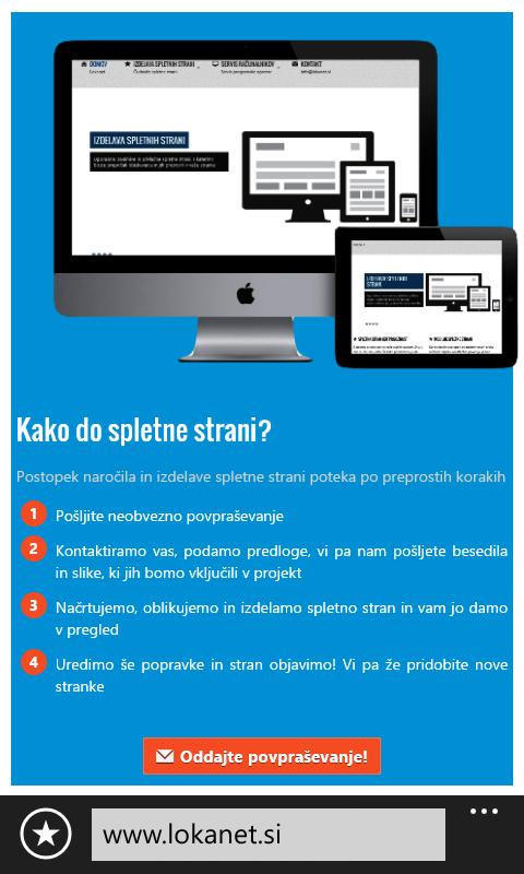 Mobilne spletne strani